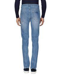 Grey Daniele Alessandrini Blue Denim Pants for men