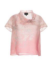Blouse Giorgio Armani en coloris Pink
