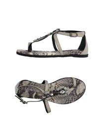 Apepazza Natural Toe Strap Sandal