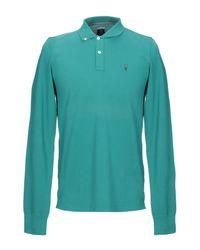 Cooperativa Pescatori Posillipo Green Polo Shirt for men