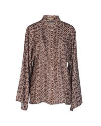 Michael Kors - Brown Shirt - Lyst