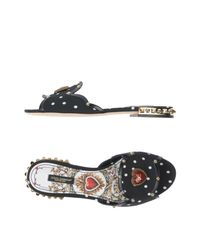 Dolce & Gabbana Black Sandale