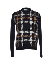WOOD WOOD Blue Sweater for men