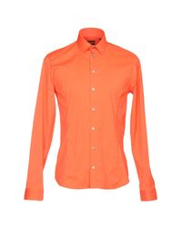 Camicia di Patrizia Pepe in Orange da Uomo