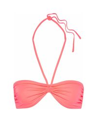 Biquini Solid & Striped de color Pink