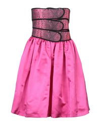 Vestito corto di Christopher Kane in Pink