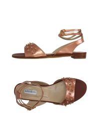 Fratelli Rossetti   Metallic Sandals   Lyst
