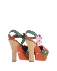 Sergio Rossi Green Sandals