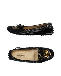 Car Shoe | Black Moccasins | Lyst