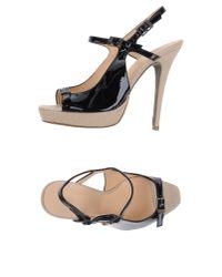 INTROPIA | Black Sandals | Lyst
