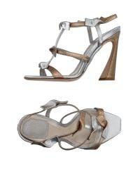 Dior   Metallic Sandals   Lyst