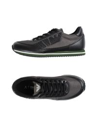 Armani Jeans | Black Low-tops & Sneakers for Men | Lyst
