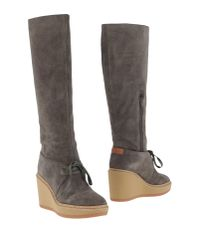 See By Chloé | Gray Boots | Lyst