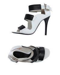 Alexander McQueen | Black Sandals | Lyst