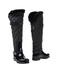 MICHAEL Michael Kors | Fulton Quilted Rain Boots - Black | Lyst