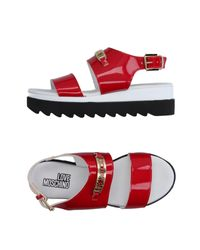 Love Moschino | Red Sandals | Lyst