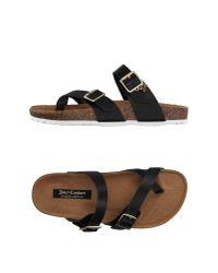 Juicy Couture | Black Toe Post Sandal | Lyst