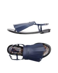 KENZO Blue Thong Sandal
