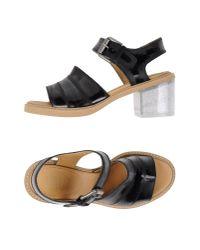 MM6 by Maison Martin Margiela   Black Sandals   Lyst