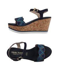 Chiara Pasquini | Blue Sandals | Lyst