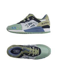 Asics Green Low-tops & Sneakers for men