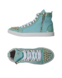 Elisabetta Franchi Blue High-tops & Sneakers
