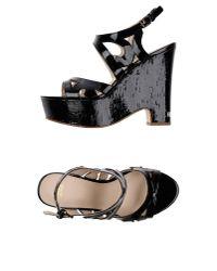 Versace Jeans | Black Sandals | Lyst