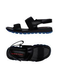 Prada Black Sandals for men