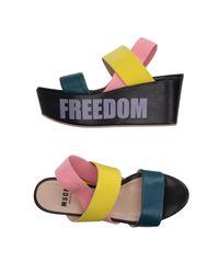 MSGM Multicolor Sandals