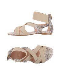 Stuart Weitzman Natural Sandals
