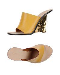 Chloé Yellow Sandals