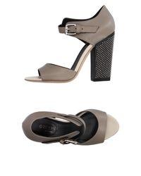 Grey Mer | Gray Sandals | Lyst