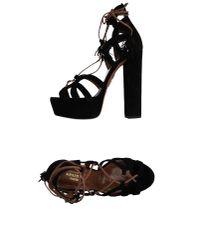 Aquazzura - Black Sandals - Lyst