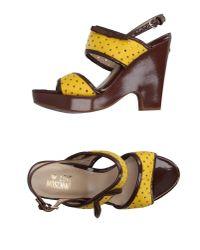 Love Moschino - Yellow Sandals - Lyst