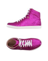 Gucci Purple High-tops & Sneakers