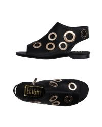 Eeight - Black Sandals - Lyst