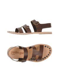 Pedro Garcia Brown Sandals for men