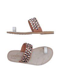 Pedro Garcia | Multicolor Toe Strap Sandal | Lyst
