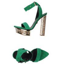 Versace Green Sandals