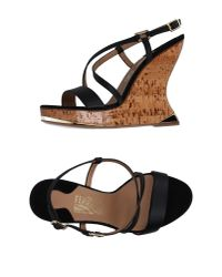 Ferragamo - Black Sandals - Lyst