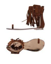 Giuseppe Zanotti Brown Toe Post Sandal