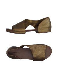 Roberto Del Carlo - Metallic Sandals - Lyst