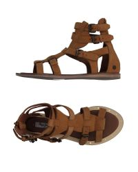 Pepe Jeans Brown Sandals