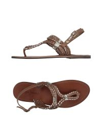 Pepe Jeans Brown Toe Strap Sandal