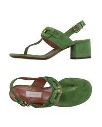 L'Autre Chose Green Toe Post Sandal