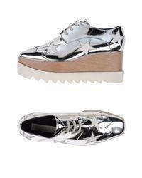 Stella McCartney - Metallic Lace-up Shoe - Lyst