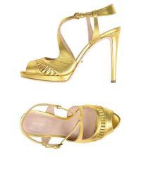 Sergio Rossi Metallic Sandals