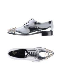 Giuseppe Zanotti Metallic Lace-up Shoe for men