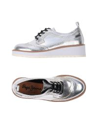 Pepe Jeans - Metallic Lace-up Shoe - Lyst