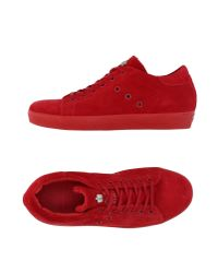 Leather Crown Red Low-tops & Sneakers